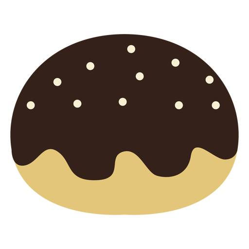Chocolate jam doughnut icon