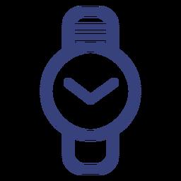 Icono de trazo de reloj círculo