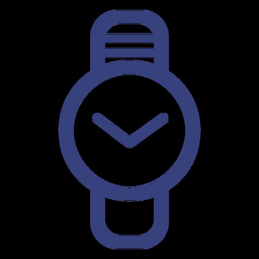 Ícone de traçado de relógio de círculo Transparent PNG