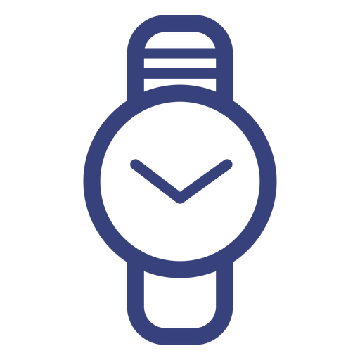 Icono de trazo de reloj de círculo