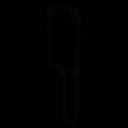 Icono de trazo de cuchillo de cuchilla