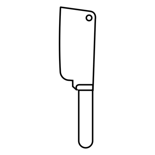 Cleaver knife stroke icon Transparent PNG