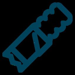 Icono de trazo de oblea recubierto