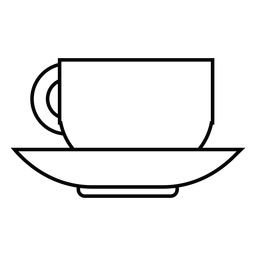 Ícone de traço de xícara de café