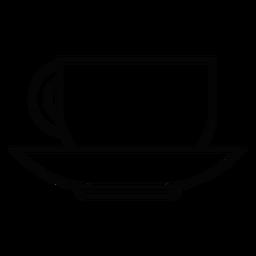 Icono de trazo de taza de café