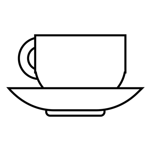 Coffee cup stroke icon Transparent PNG