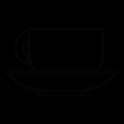 Icono de trazo de taza de café Transparent PNG