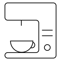 Coffee machine stroke icon