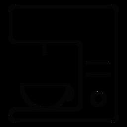Icono de trazo de la máquina de café