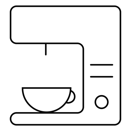 Coffee machine stroke icon Transparent PNG
