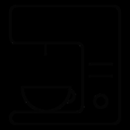 Icono de trazo de la máquina de café Transparent PNG