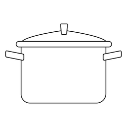 Cooking pot stroke icon