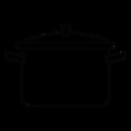 Icono de trazo de olla de cocina