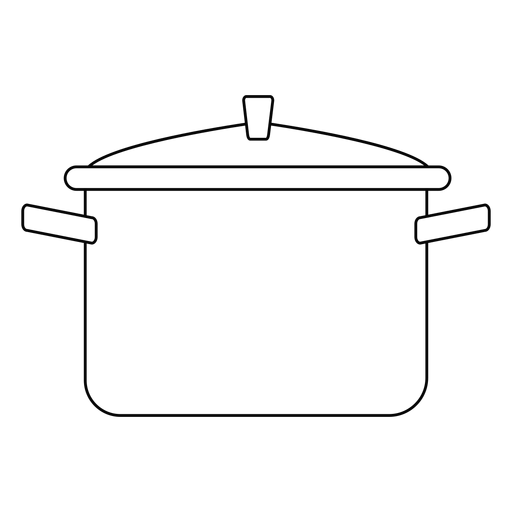 Cooking pot stroke icon Transparent PNG