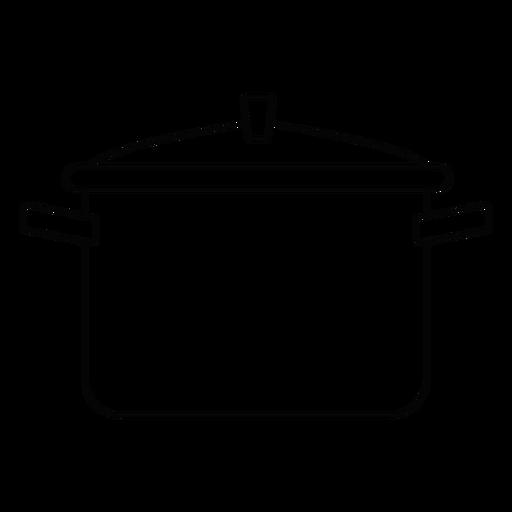 Icono de trazo de olla de cocina Transparent PNG