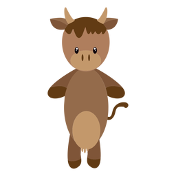 Cow character illustration
