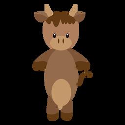Ilustración de personaje de vaca