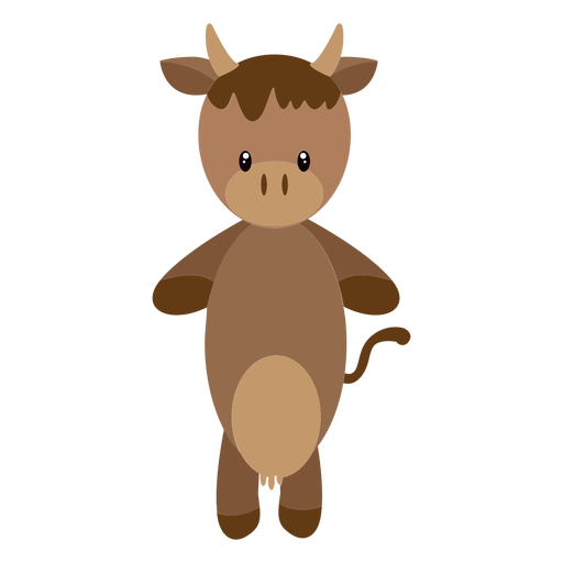 Cow character illustration Transparent PNG