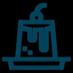 Creme-Karamell-Schlaganfall-Symbol