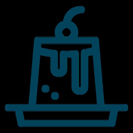 Creme caramel stroke icon Transparent PNG