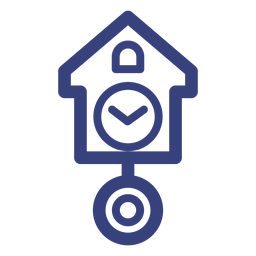Cuckoo clock stroke icon