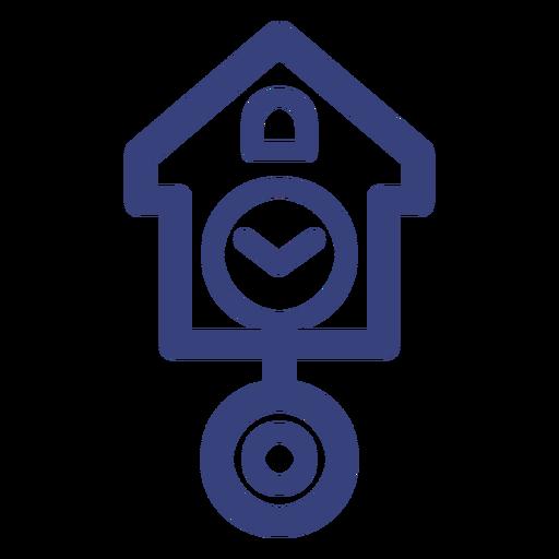 Icono de trazo de reloj de cuco Transparent PNG