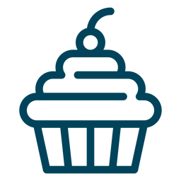 Cupcake-Strich-Symbol