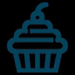 Icono de trazo de la magdalena