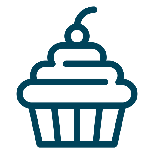 Cupcake stroke icon Transparent PNG