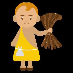 Ilustración de personaje de David
