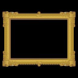 Moldura dourada decorativa