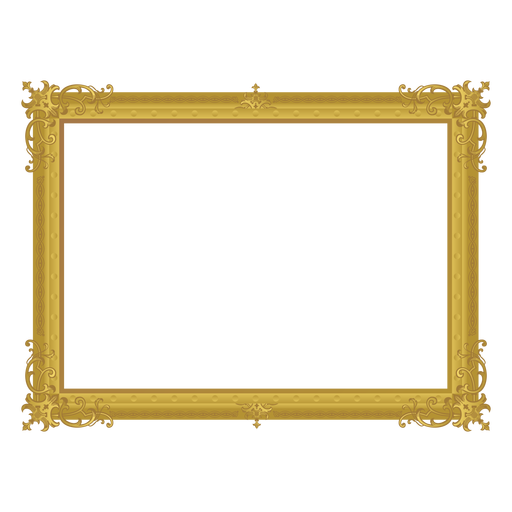 Decorative golden frame Transparent PNG