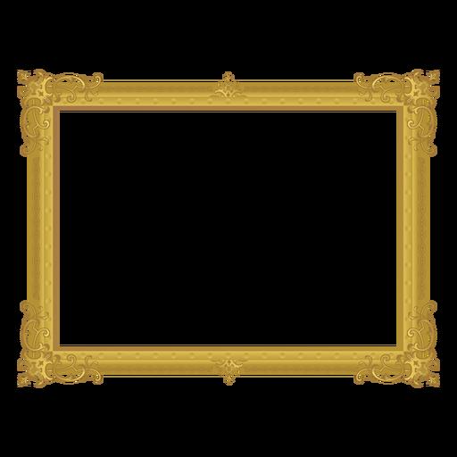Marco dorado decorativo Transparent PNG