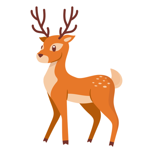 Deer animal cartoon Transparent PNG