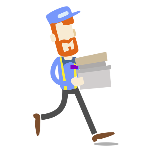 Delivery man carrying boxes Transparent PNG