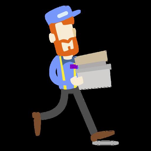 Repartidor llevando cajas Transparent PNG
