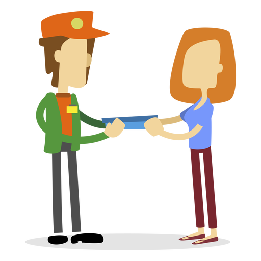 Delivery man handing delivery Transparent PNG