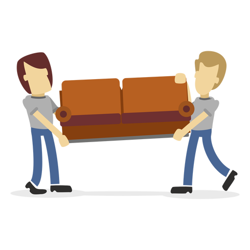Delivery men carrying sofa Transparent PNG