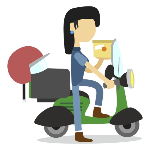 Delivery woman delivering package Transparent PNG