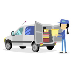 Lieferfrau Ladewagen