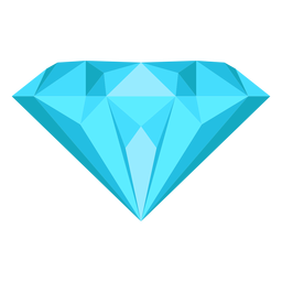 Diamond gem flat icon
