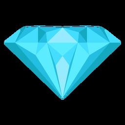 Ícone plana de gema de diamante