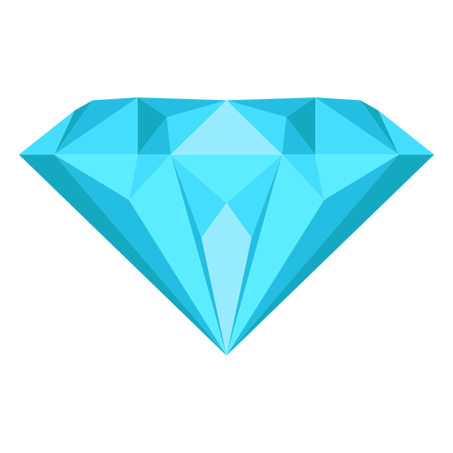 Gema de diamante icono plana Transparent PNG
