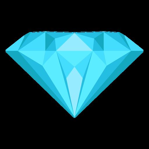 Icono plano de gema de diamante