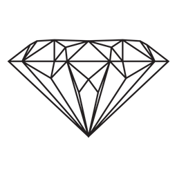 Diamond gem stroke icon