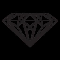 Gema de diamante icono de trazo