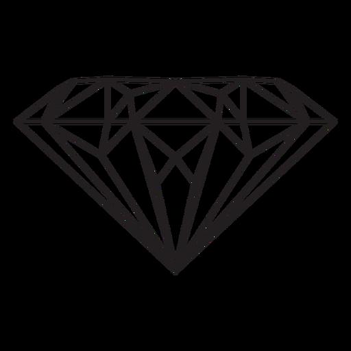Diamond gem stroke icon Transparent PNG