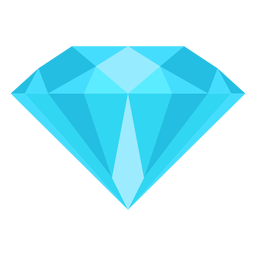 Diamond gemstone flat icon