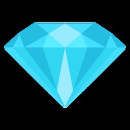 Ícone plana de gemstone de diamante