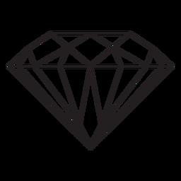 Diamant Edelstein Schlaganfall-Symbol